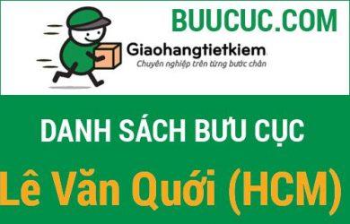 Giao hàng tiết kiệm Lê Văn Quới (HCM)
