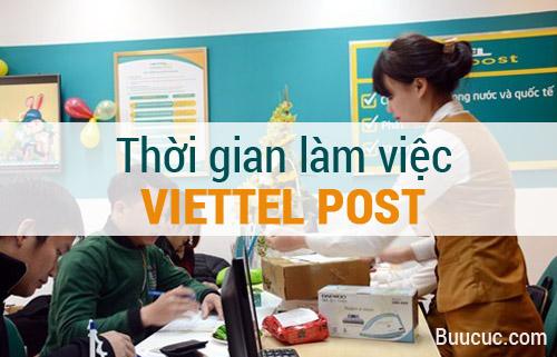 Thời gian làm việc của Viettel Post