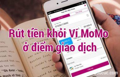 Cách rút tiền khỏi Ví tại điểm giao dịch MoMo
