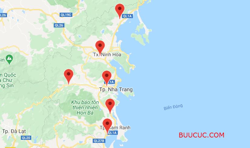 Danh Sách bưu cục Ninja Van Khánh Hòa