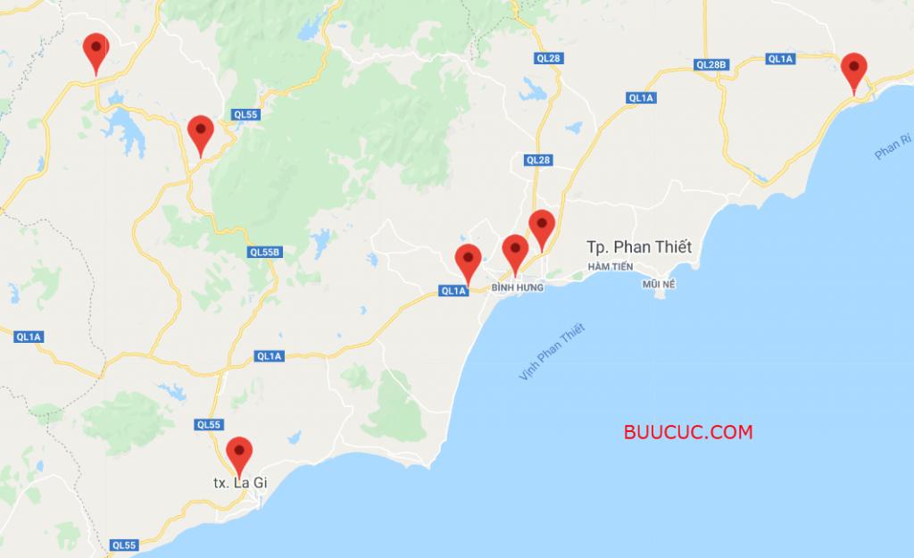 Danh Sách Bưu cục Ninja Van Bình Thuận