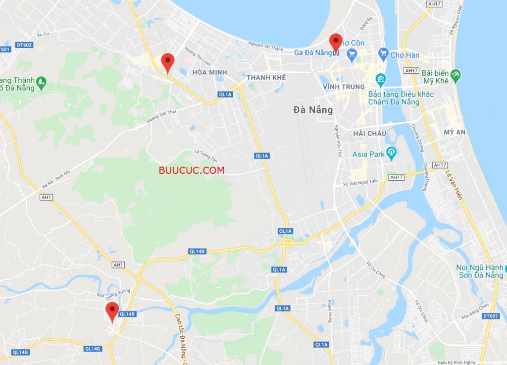Các bưu cục Ninja Van tại Đà Nẵng