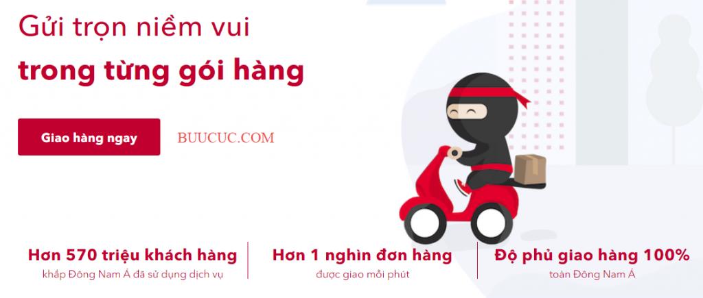 Ninja Van giao hàng